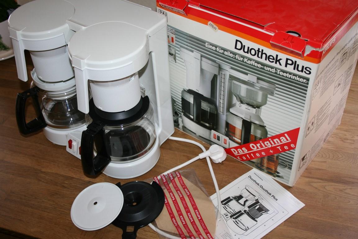 krups duothek typ 262 doppel kaffeemaschine teemaschine kombiger t kaffee tee ebay. Black Bedroom Furniture Sets. Home Design Ideas